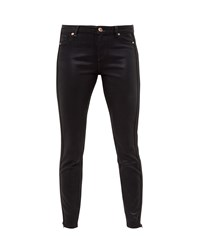Ted Baker Kasse Cord Trim Coated Skinny Jeans Black