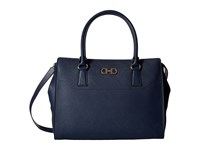 Salvatore Ferragamo 21F271 Beky Oxford Blue Satchel Handbags