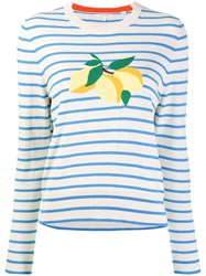 Chinti And Parker Striped Lemon Sweater Neutrals