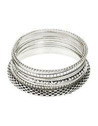 Catherine Stein Bangle Bracelet Set Silver