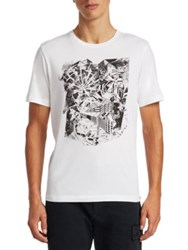 Saks Fifth Avenue X Anthony Davis Abstract Graphic Tee Gallery White