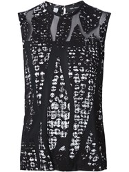 Yigal Azrouel Burn Out Top Black