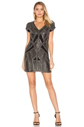 Karina Grimaldi Marinola Beaded Mini Dress Black