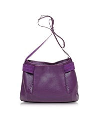 Francesco Biasia Corine Leather Shoulder Bag Purple