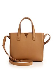 Vince Signature Baby Leather East West Tote Blush