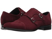 Stacy Adams Slocomb Oxblood Suede Men's Shoes Burgundy
