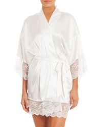 In Bloom Bonsall Bride Satin And Lace Robe Ivory