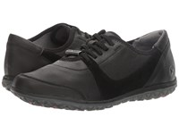 Hush Puppies Basel Audra Black Leather Suede Women's Shoes