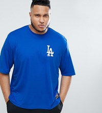 Majestic Oversized L.A Dodgers Mesh T Shirt In Navy