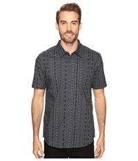 Quiksilver Panacea Dark Slate Men's Short Sleeve Button Up Gray
