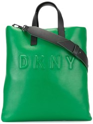 Dkny Embossed Logo Tote Green