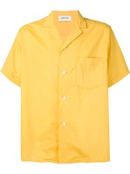 Second Layer Classic Collar Wide Shirt Yellow And Orange