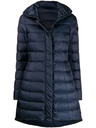 Peuterey Long Sleeve Padded Coat Blue