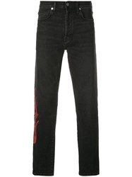 Lost Daze Red Flame Jeans Black