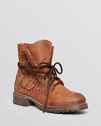 Jeffrey Campbell 2615 Ki Perforated Lace Up Combat Ankle Boots Bloomingdale's Exclusive Brown Leather