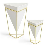 Umbra Trigg Planter Set Of 2 Nickel Brass
