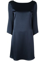 Diane Von Furstenberg Scoop Back Dress Blue