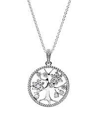 Pandora Design Pandora Necklace Sterling Silver And Cubic Zirconia Family Tree 32