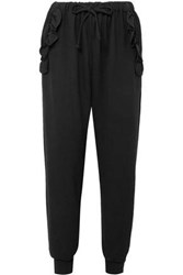 Simone Rocha Stretch Jersey Tapered Pants Black