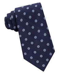 Lord And Taylor The Mens Shop Floral Dot Patterned Silk Neck Tie Blue