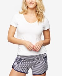A Pea In The Pod Maternity Pajama Shorts Navy White