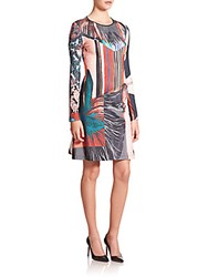 Clover Canyon Autumn Striped Jersey A Line Dress Multi