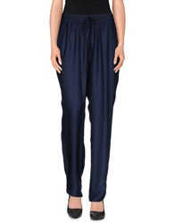 Bgn Trousers Casual Trousers Women Dark Blue