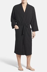 Men's Nordstrom Thermal Knit Robe Black