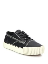 Alexander Wang Perry Leather Low Top Sneakers Black