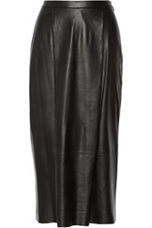 Adam By Adam Lippes Leather Midi Skirt Black