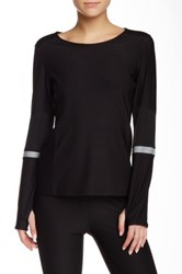 Abs By Allen Schwartz Long Sleeve Top Black