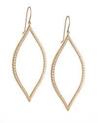 Jamie Wolf Bezel Set Diamond Leaf Earrings