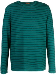 Barena Longsleeved Striped T Shirt Green
