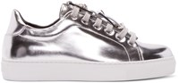 Versus Silver Low Top Sneakers