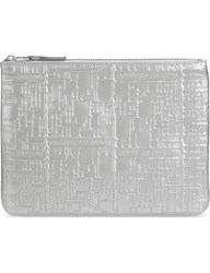 Comme Des Garcons Embossed Pouch Silver