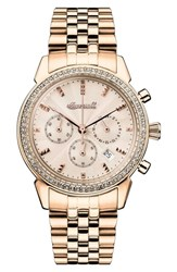 Ingersoll Crystal Accent Chronograph Bracelet Watch 35Mm Gold Rose Gold