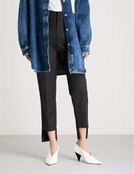 Moandco. High Rise Woven Trousers Black