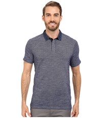 Calvin Klein Jeans Slim Fit Denim Collar Polo Shirt Blue Inhibition Men's Short Sleeve Pullover Gray