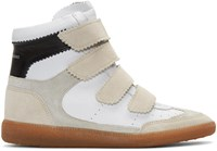 Isabel Marant Off White Suede Bilsy Wedge Sneakers