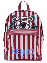 Kenzo Tiger Striped Backpack Red