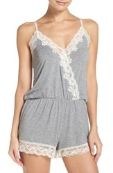 Flora Nikrooz Women's Stretch Modal Lounge Romper Heather Grey