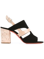 Barbara Bui Cut Out Detail Sling Back Sandals Black