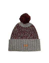 Fred Perry Twisted Yarn Bobble Hat Maroon