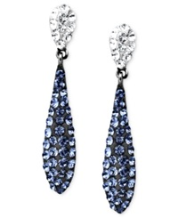 Kaleidoscope Sterling Silver Earrings Blue Crystal Teardrop Earrings With Swarovski Elements