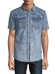American Stitch Denim Button Down Shirt Blue