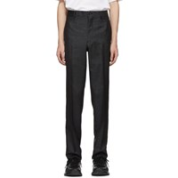 Comme Des Garcons Homme Plus Black And Blue Lame Trousers