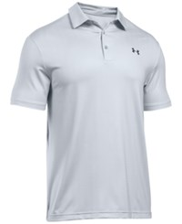 Under Armour Men's Playoff Performance Striped Golf Polo White