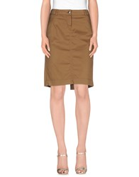 Marina Yachting Skirts Knee Length Skirts Women Khaki