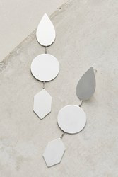 Anthropologie Reflective Drop Earrings Silver