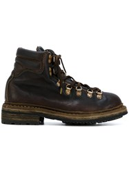 Guidi Lace Up Mountain Boots Women Leather Rubber 40 Brown
